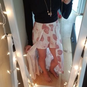 Charlotte Russe Open-front Flowy Shorts/Skirt